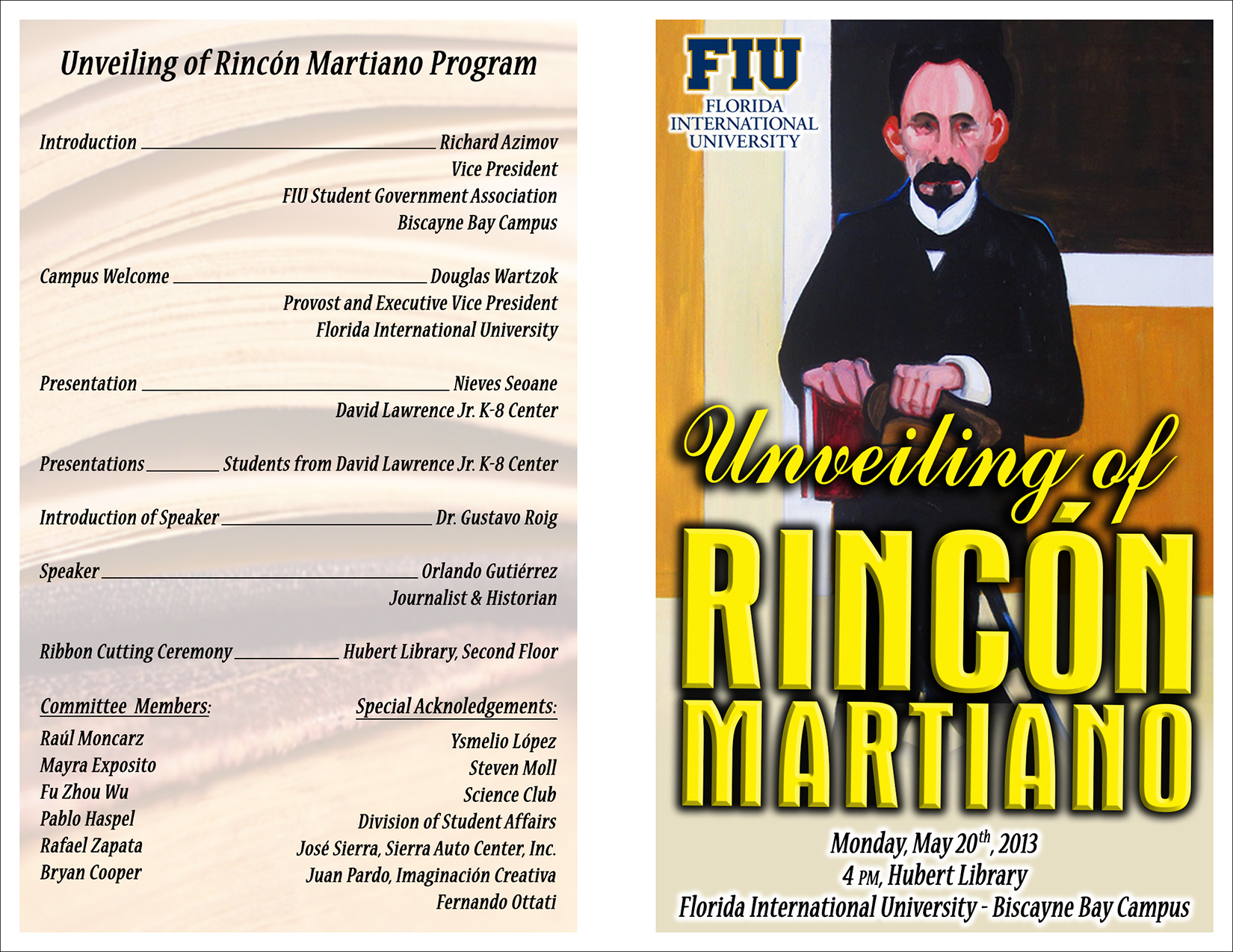 unveiling of rincon mariano