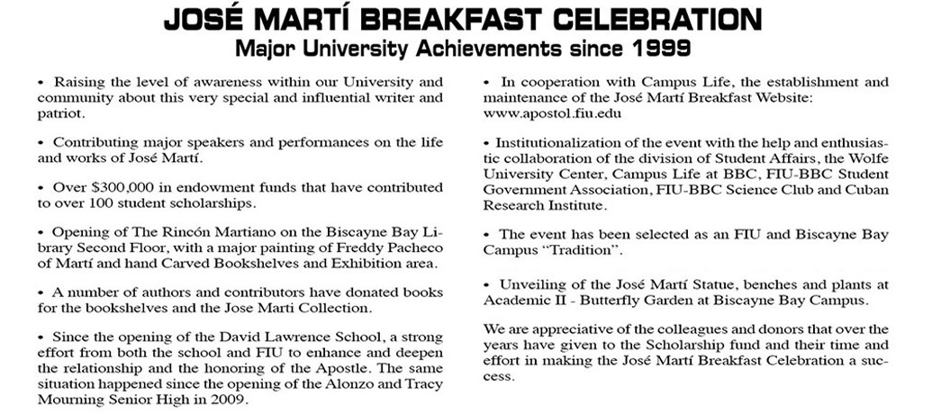 Jose Marti Breakfast Celebration Article